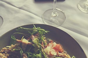 Salad with wine