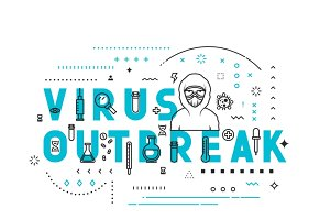 Concepts of words virus outbreak