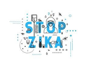 Concepts of words stop zika