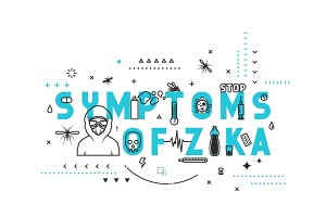 Symptoms of zika