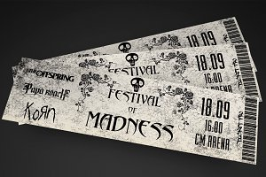 Grungy Rock Event Ticket