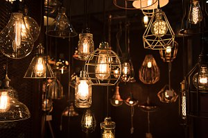 hanging light bulbs