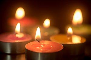 burning spa candle