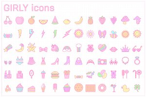 Girly icons