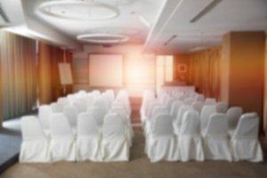 blurred meeting room