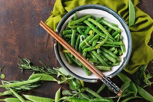 Fried long beans