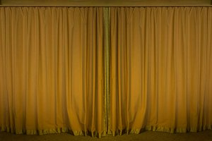 brown curtain stage for background