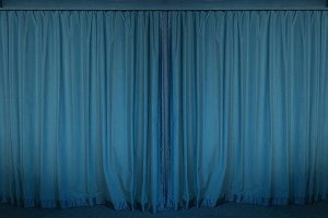 blue curtain stage for background