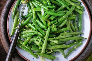 Fried long beans