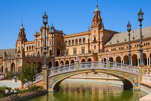 square of Spain,  Seville