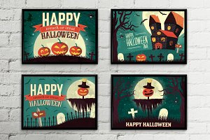 Happy halloween time background pack