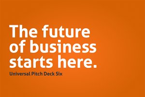 Universal Pitch Deck Six Keynote
