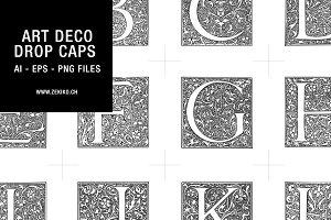Art Deco Drop Caps