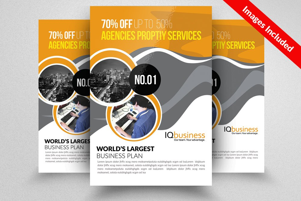 Business flyer psd template flyer templates creative market wajeb Images