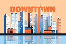 City downtown landscape