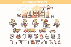 construction infographic element