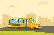 Vintage yellow school bus