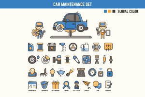 car maintenance infographic element