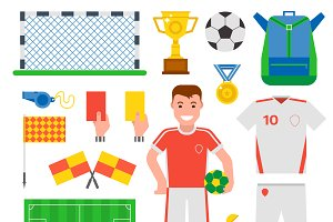 Football soccer icons vector
