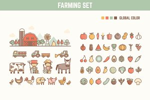 farming infographic element