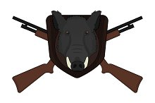 Hunting trophy. Vector