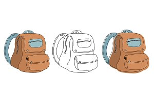 School bag. Vector