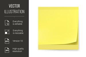 Yellow sticker.