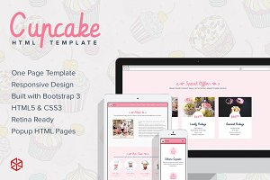 Cupcake - One Page HTML Template