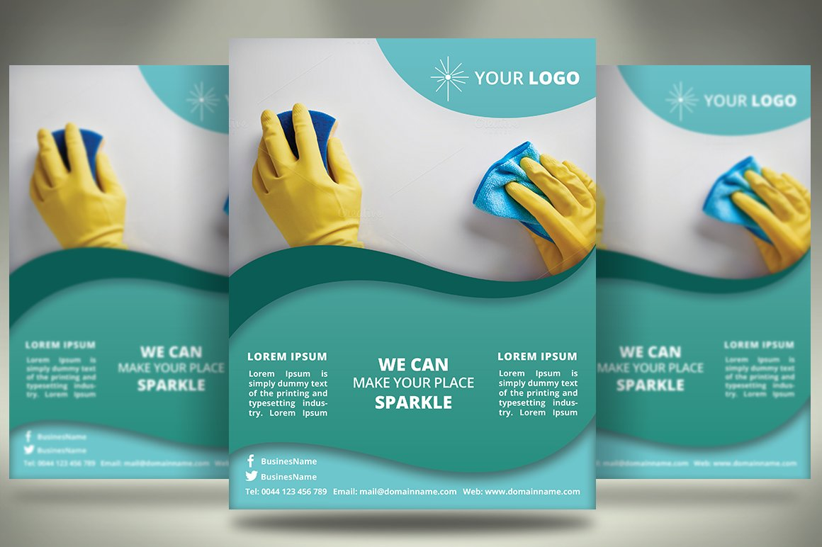 Cleaning Services Flyer SB Templates Creative