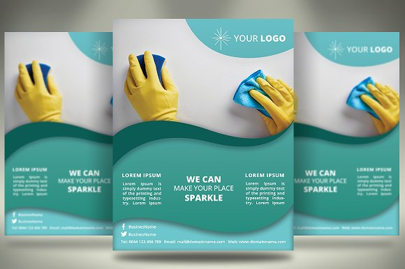 Cleaning services flyer v028 flyer templates for Cleaning brochure templates free