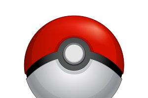 Poké Ball vector set.Pokemon go icon