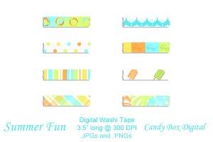 Summer Fun Digital Washi Tape