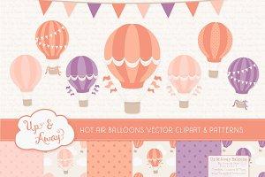 Antique Peach Hot Air Balloons