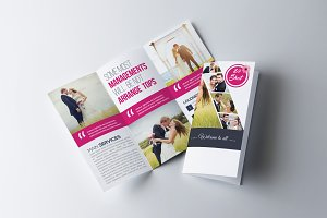 Wedding Program Trifold Brochure