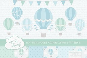 Blue & Mint Hot Air Balloons