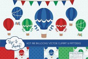 Crayon Box Boy Hot Air Balloons