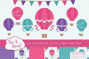 Crayon Box Girl Hot Air Balloons