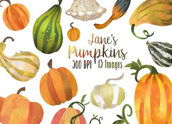 Fall Pumpkins and Gourds Clipart