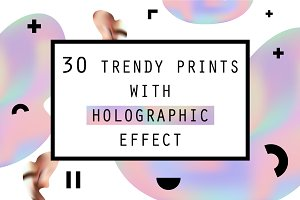 30 Holographic Prints Set