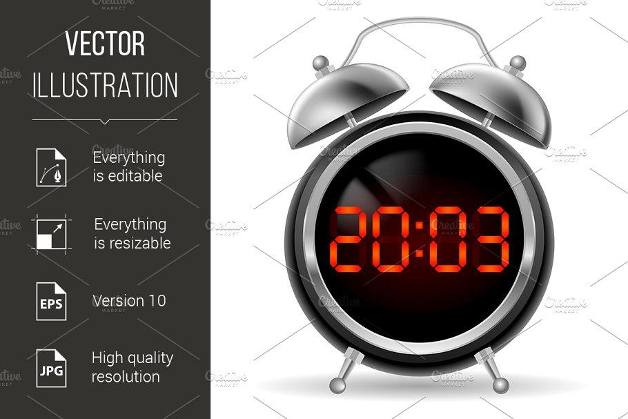 Retro alarm clock with digital face
