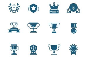 Awards, prizes and trophy icons