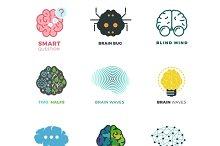 Brain, creation, idea icons