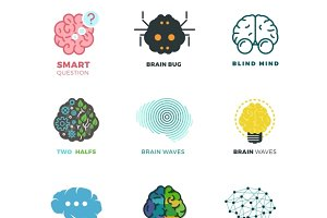 Brain, creation, idea icons