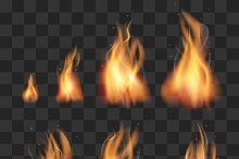 Realistic fire animation sprites