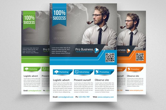 Business Corporate Flyer Template in Flyer Templates