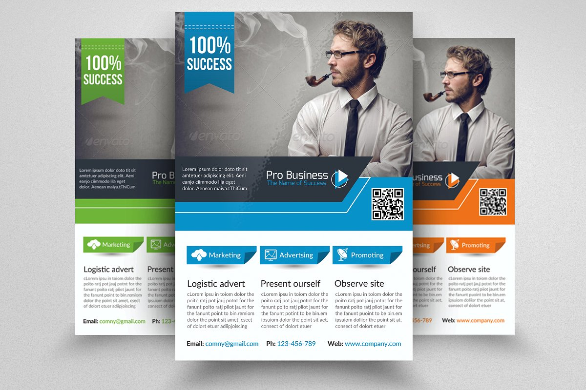 Business Corporate Flyer Template in Flyer Templates - product preview 8