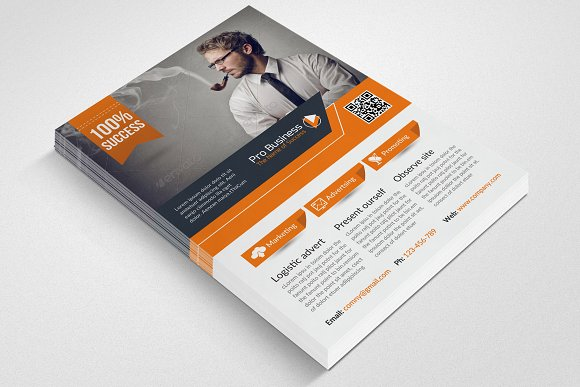 Business Corporate Flyer Template in Flyer Templates - product preview 1