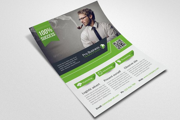 Business Corporate Flyer Template in Flyer Templates - product preview 2