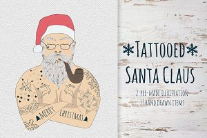 Tattooed Santa Claus