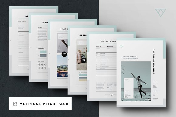 proposal pitch pack brochure templates creative market